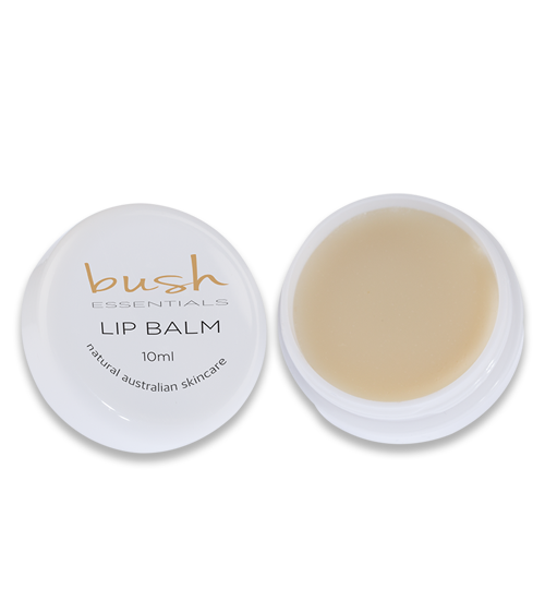 Natural Lip Balm: Beeswax, Honey, Almond, Lemon, Patchouli, Rosehip Oil Bush Skincare Essentials
